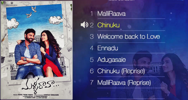 Chinuku Song Lyrics from Malli Raava - Sumanth