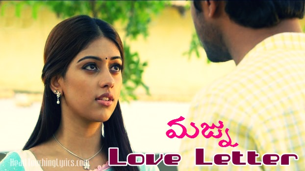 Love latter text lyrics from Majnu - Nani
